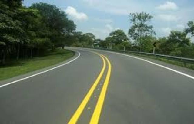 Construcción de vías en Colombia