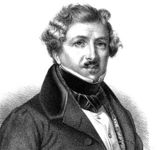 Niépce asocia a Louis Jacques Mandé Daguerre en sus investigaciones.