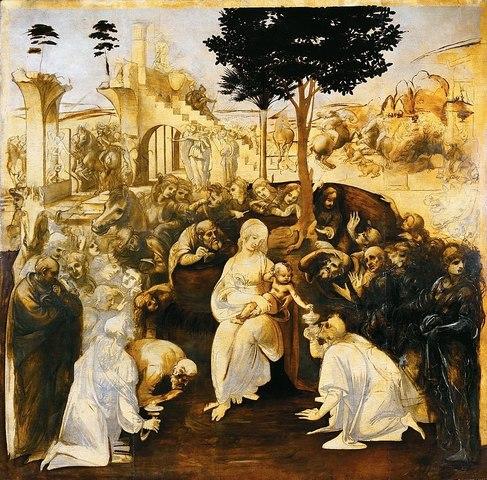 The Adoration of the Magi by Da Vinci