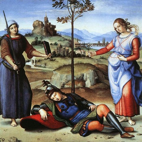 The Vision of a Knight by Raphael