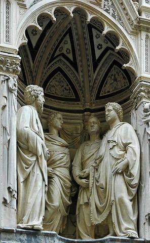Four Crowned Saints by Nanni di Banco