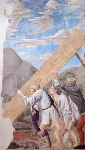 Burial of the Holy Wood by Piero della Francesca