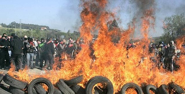 Huelga minera de Asturias