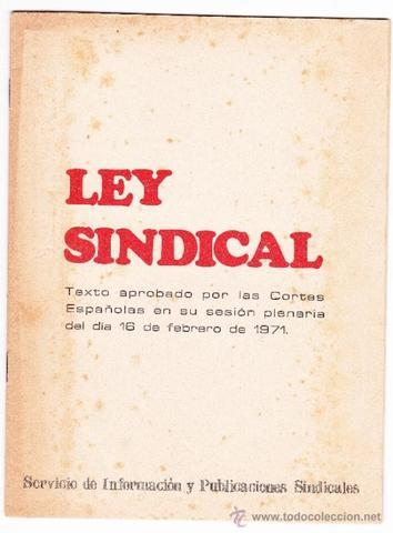 Ley Sindical