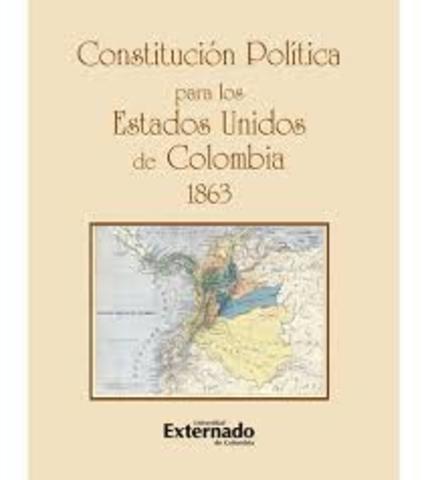 CONVENCIÓN DE RIONEGRO - CONSTITUCIÓN POLITICA ESTADOS UNIDOS DE COLOMBIA