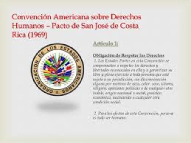 """CONVENCIÓN AMERICANA SOBRE DERECHOS HUMANOS.""""PACTO DE SAN JOSÉ"""""""