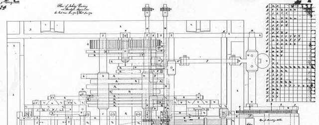 Diseño de la máquina analítica.