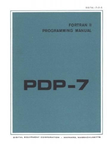 Lenguaje FORTRAN sobre el PDP 7.