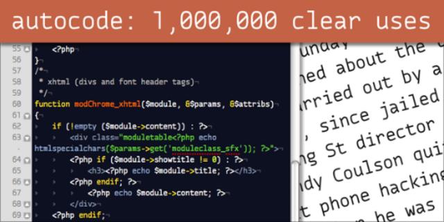 Autocode (código automatico).