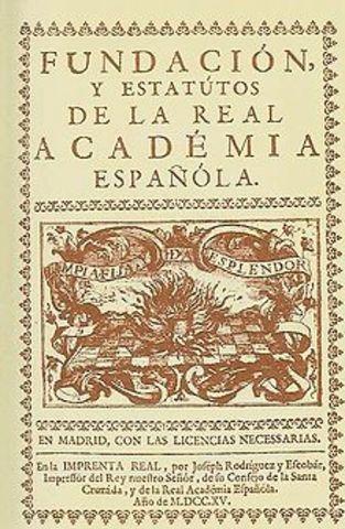 Real Academia Espanhola é fundada