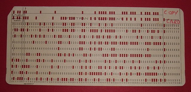 Codificación de tarjetas perforadas
