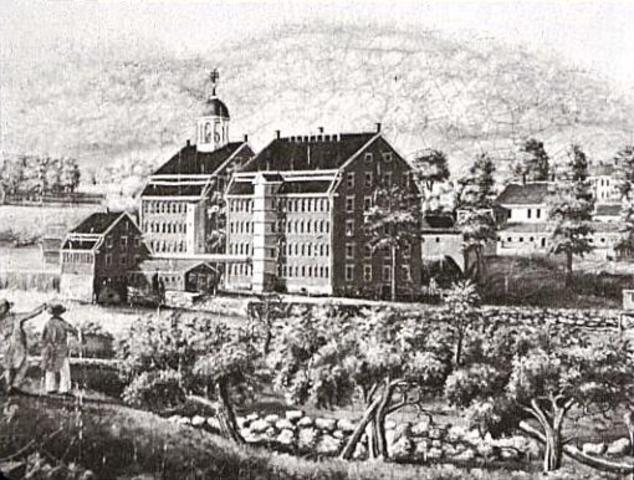 Boston Manufacturing Company founds cotton mill at Waltham, Massachusets