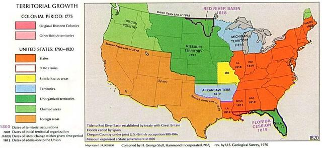 Missouri Compromise resolves nation's first sectional crisis