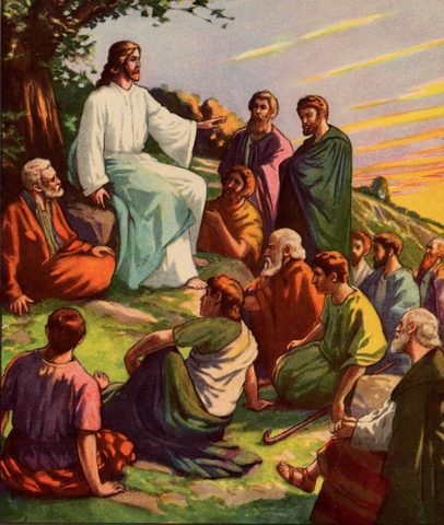 Jesus teaches people about God