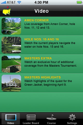The Masters 2009 Live