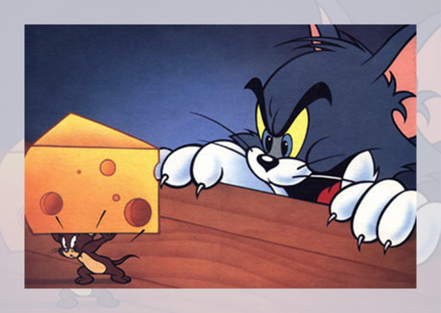 tom attempting to capture jerry