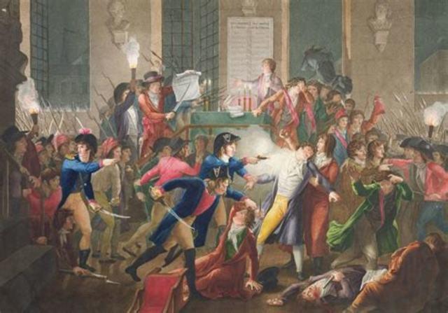 Arresto di Robespierre e condanna a morte
