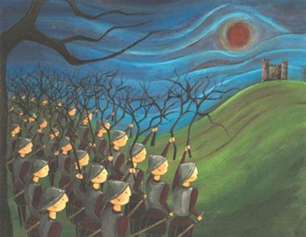 Birnam wood marches to meet Macbeth