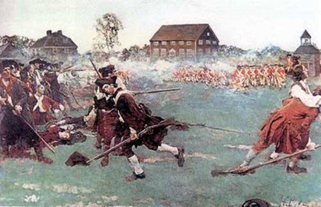 Lexington & Concord War Begins