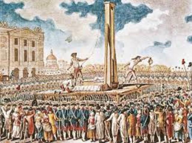 Morte Robespierre conseguente allo scoppio della crisi