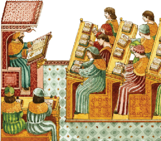 Educación en la Edad Media, influencia de la iglesia en el aprendizaje