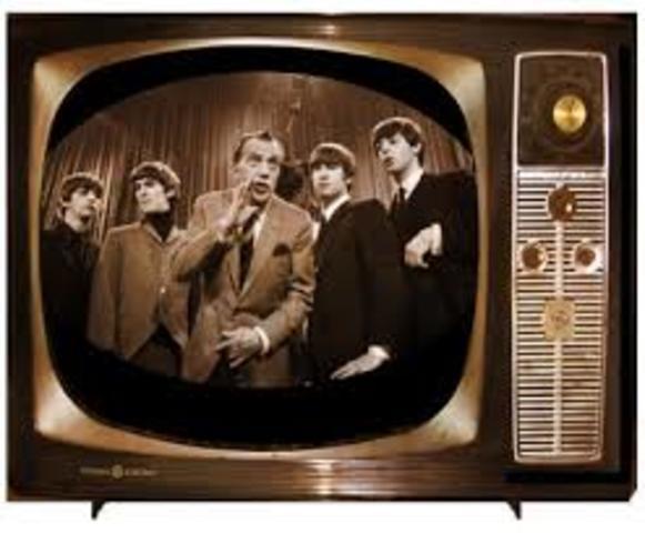 Televisión en blanco y negro.