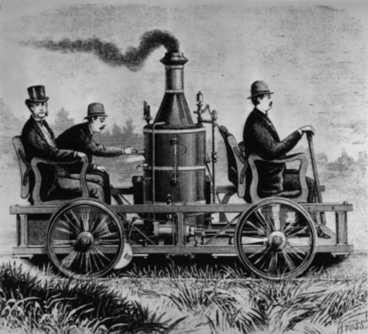 Steam powered road carriage