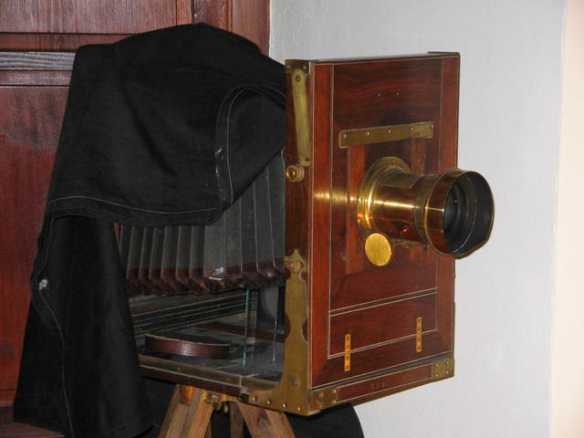 la cámara para la fotografía