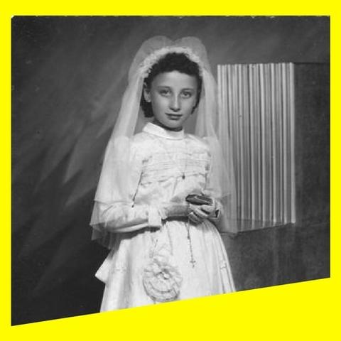 Primera comunión de la abuela de Nathalie.