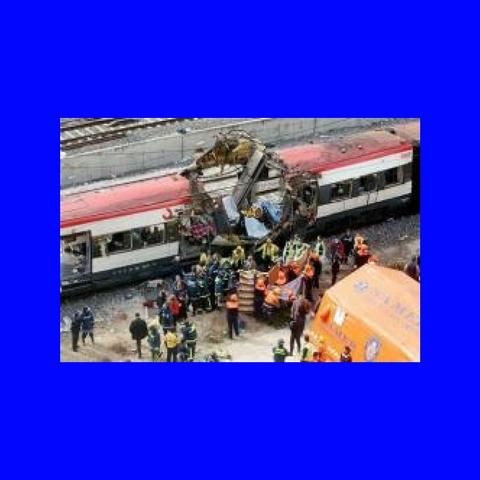 Atentado con bombas en trenes en Madrid
