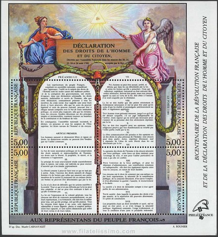 The Declaration of the Rights of Man and Citizens