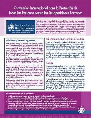 International Convention for the Protection of All Persons from Enforced Disappearances