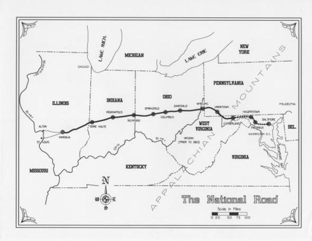 Monroe Vetoes Legislation for the Repair of the National Road