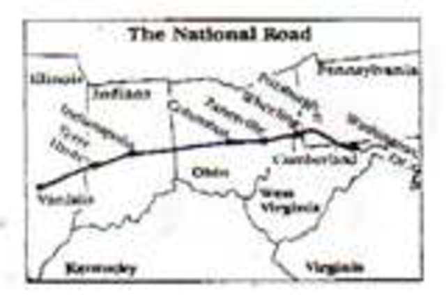National Road completed.