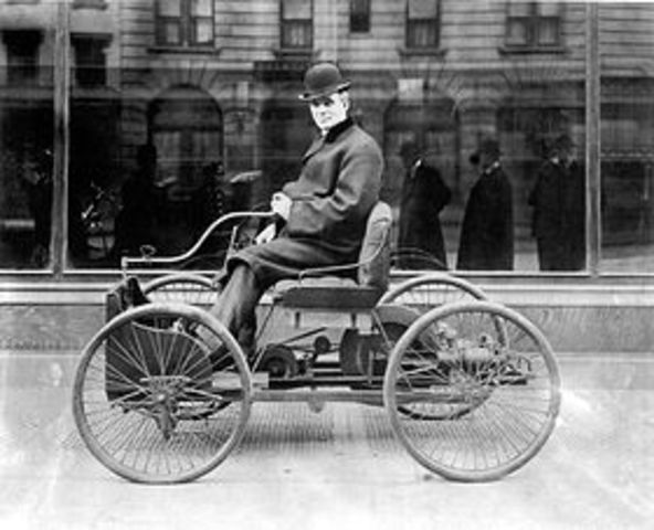 1886 – In Michigan, Henry Ford builds his first automobile.