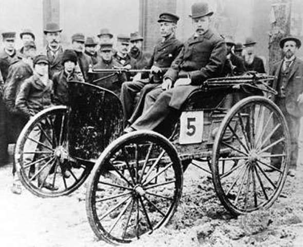1893 – Brothers Frank and Charles Edgar Duryea invent the first successful gas-powered car in the United States.