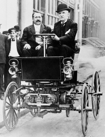 August 21, 1879 – American inventor George Baldwin files the first U.S. Patent for an automobile. This invention is more similar to a wagon with an internal combustion engine.