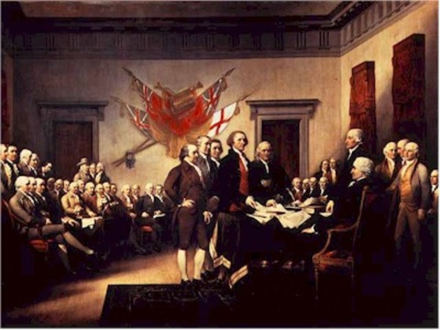 Declaration of Independence is written