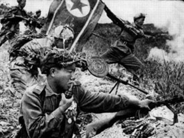 Guerra de Corea:Primer confrontamiento