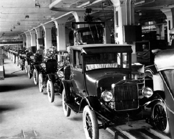 Ford T. Coches en producción masiva
