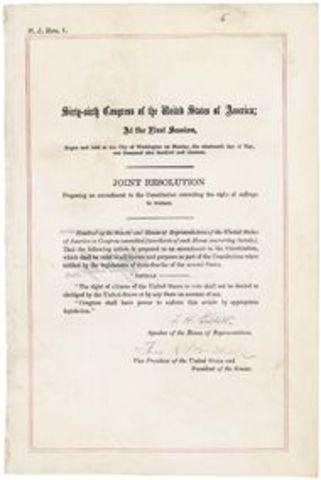 Nineteenth Amendment passed
