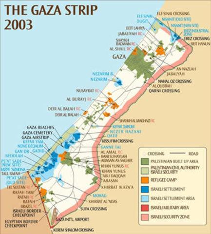 Conflicto Árabe Israelí:Negociaciones de paz y franja de Gaza
