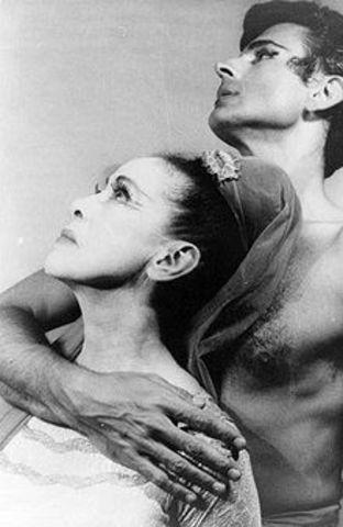 First Martha Graham modern dance recital