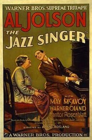 The Jazz Singer, features singing-talking soundtrack