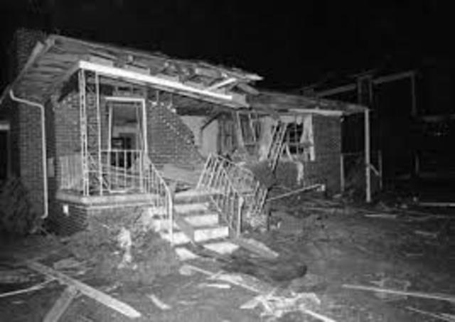 King's home is bombed