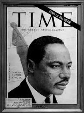 """Time Magazine names King """"Man of the Year"""""""