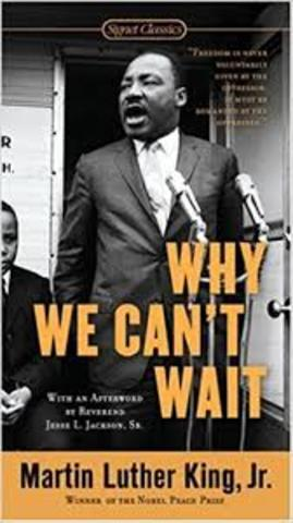 King's book Why We Can't Wait is published
