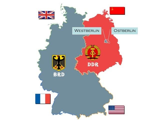 DDR/BRD upplös till ett enat Tyskland