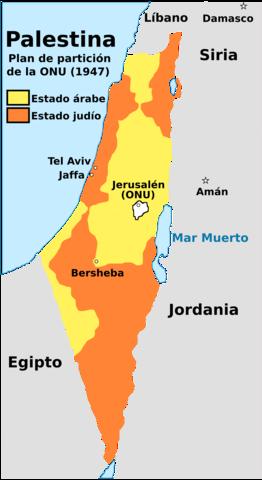 """División de Palestina """"Conflicto Arabe isrraeli"""""""