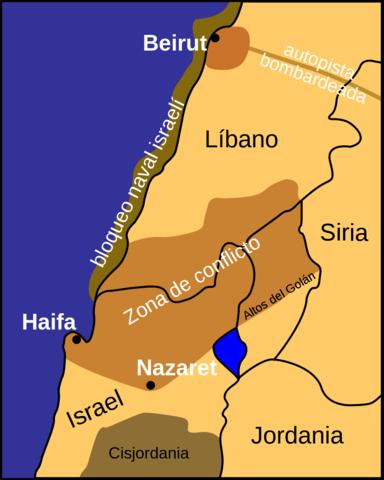 Israel invade el libano